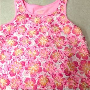 Flower embroidered tank